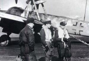 Tyske piloter ved en Mistel -2