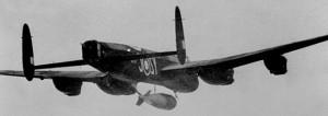 Lancaster bombefly udløser en 5 tons Tallboy bombe